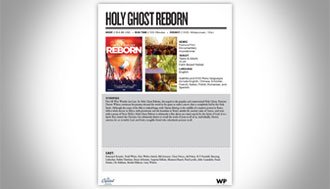 Holy Ghost Sales Sheets